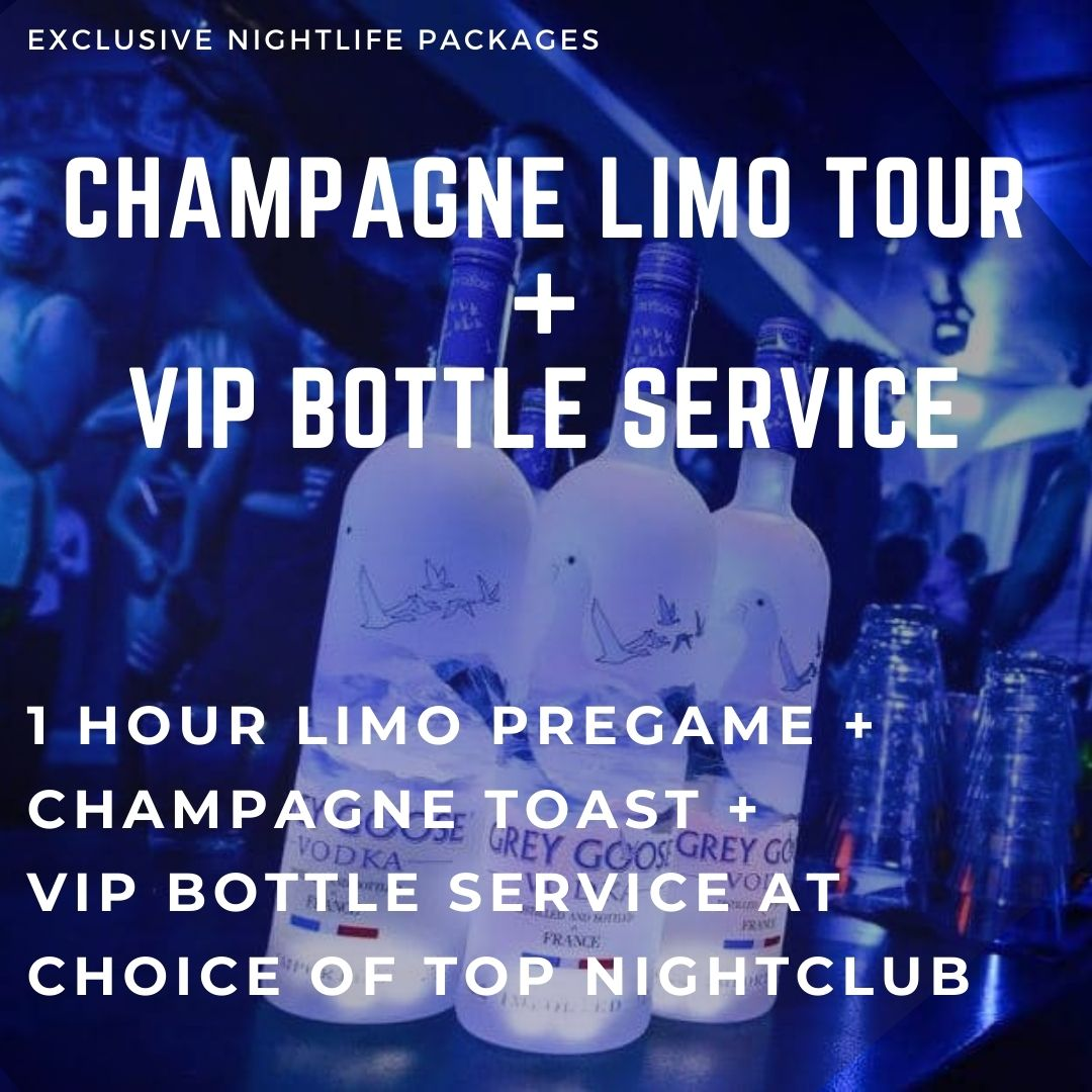 Champagne Limo Tour + VIP Bottle Service