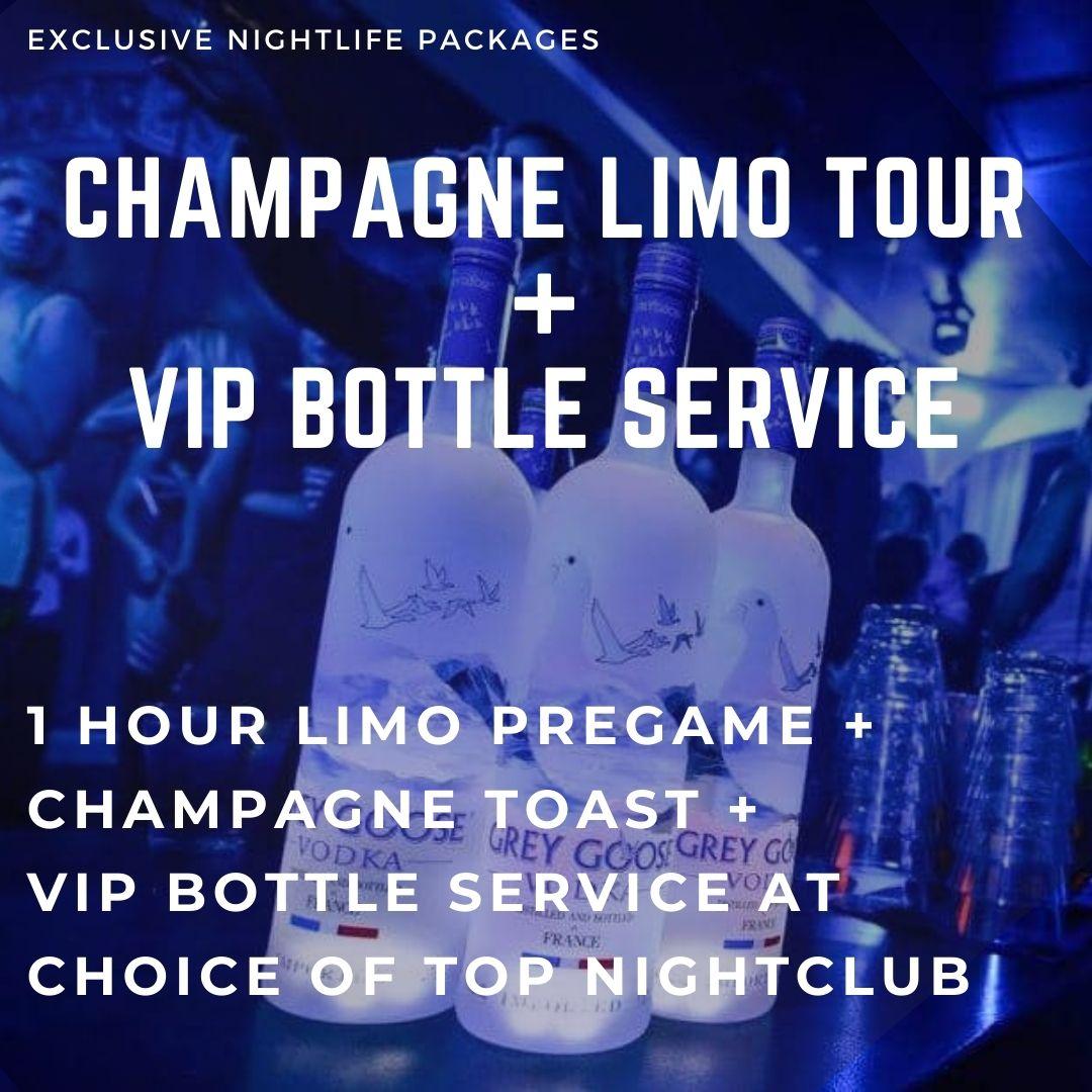 Champagne Limo Tour + VIP Bottle Service