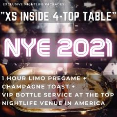 XS Lounge NYE - Inside 4-Top