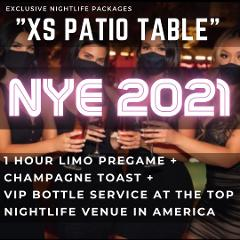 XS Lounge NYE - Patio Table
