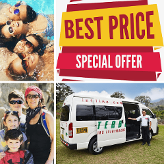 San Jose Airport to Arenal La Fortuna - Special 12PM (noon) Shuttle Departure - Shared Shuttle Transportation Services