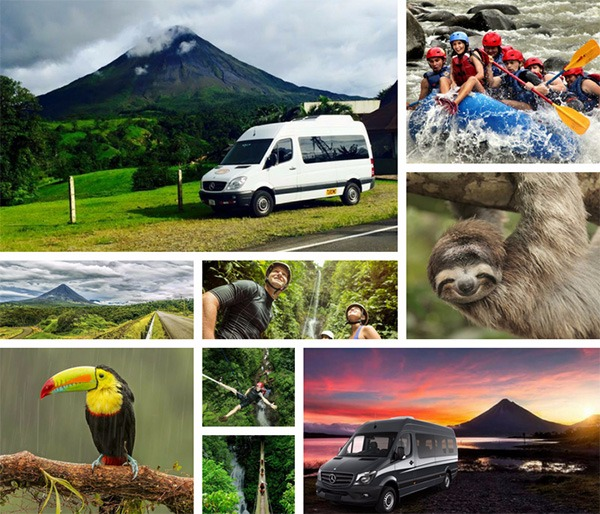 San Jose to Arenal La Fortuna + Lost Canyon Adventures