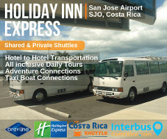 Holiday Inn Express San Jose Airport to Jaco Bay Condominium – Shared Shuttle Transportation Services