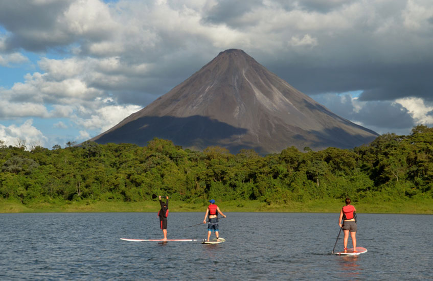 Stand Up Paddling on Lake Arenal