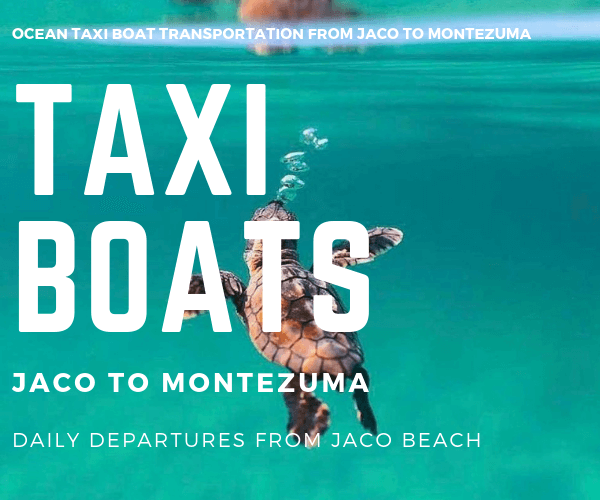 Taxi Boat Antonio Cabins Jaco to Montezuma