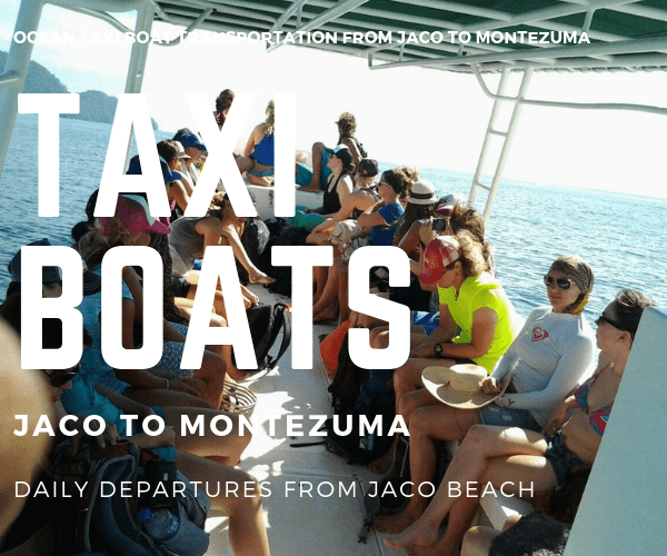 Taxi Boat Balcon del Mar Hotel Jaco to Montezuma