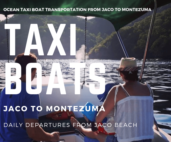 Taxi Boat Chuck Cabins Jaco to Montezuma