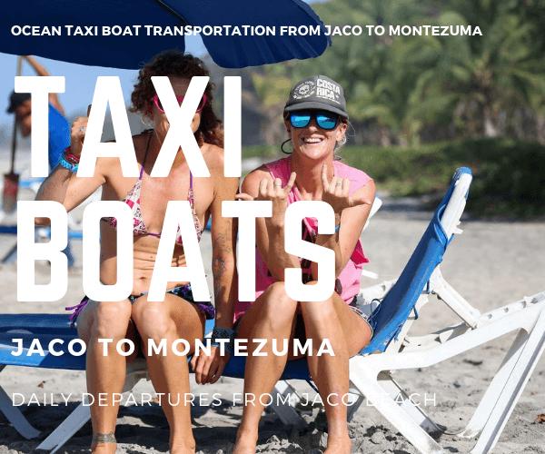 Taxi Boat Las 4 Grandes Hotel Jaco to Montezuma