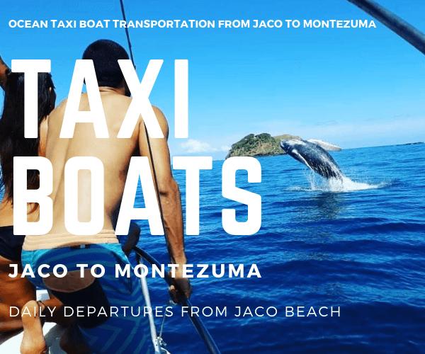 Taxi Boat Miramar Villas Jaco to Montezuma