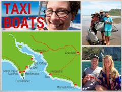 Shuttle Montezuma to Jaco Beach via taxi boat