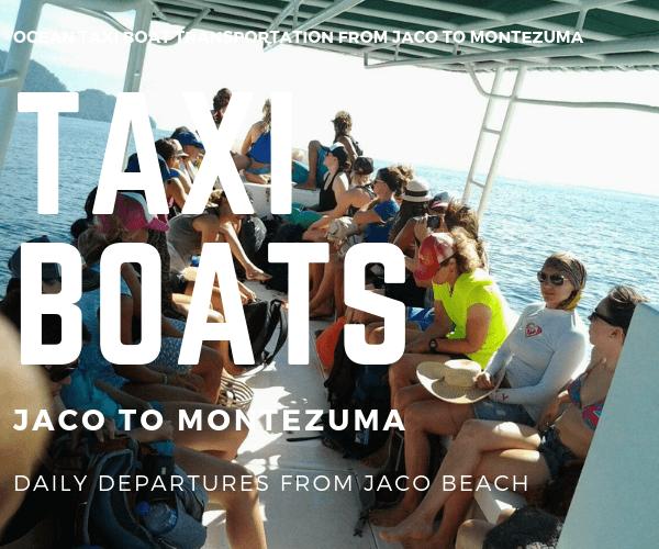 Taxi Boat Paradise Hotel Jaco to Montezuma