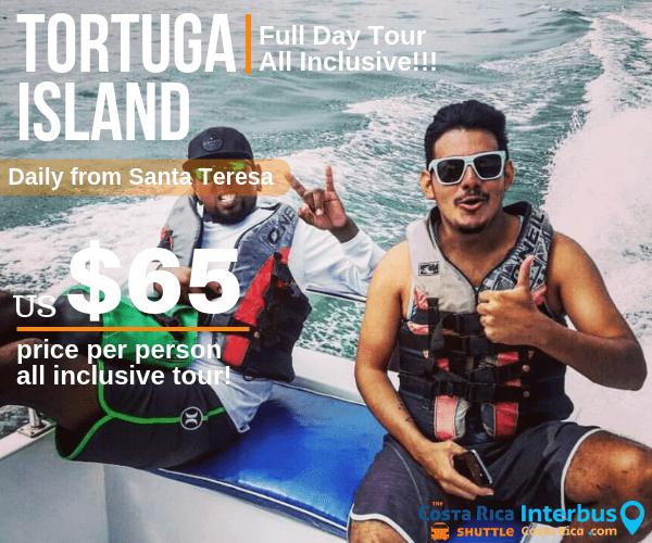 Tortuga Island Full Day Tour from Casa Zen Santa Teresa