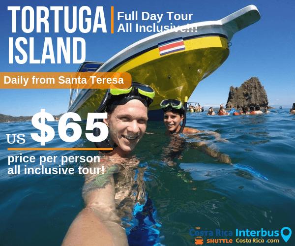 Tortuga Island Full Day Tour from Principe del Pacifico Hotel Santa Teresa