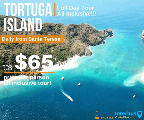 Tortuga Island Full Day Tour from Villas Hermosa Santa Teresa
