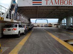 5pm Shared Shuttle San Jose Airport to Puntarenas Ferry deck