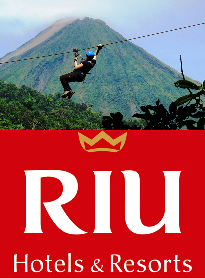 RIU Tours: Guanacaste-Arenal One-Day Tour with Sky Adventures Canopy Zipline + Hot Springs
