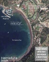 Shuttle Santa Terersa to Jaco Baech Via Taxi Boat