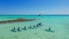 SUP Yoga at the Abrolhos Islands with Geraldton Paddle & Yoga