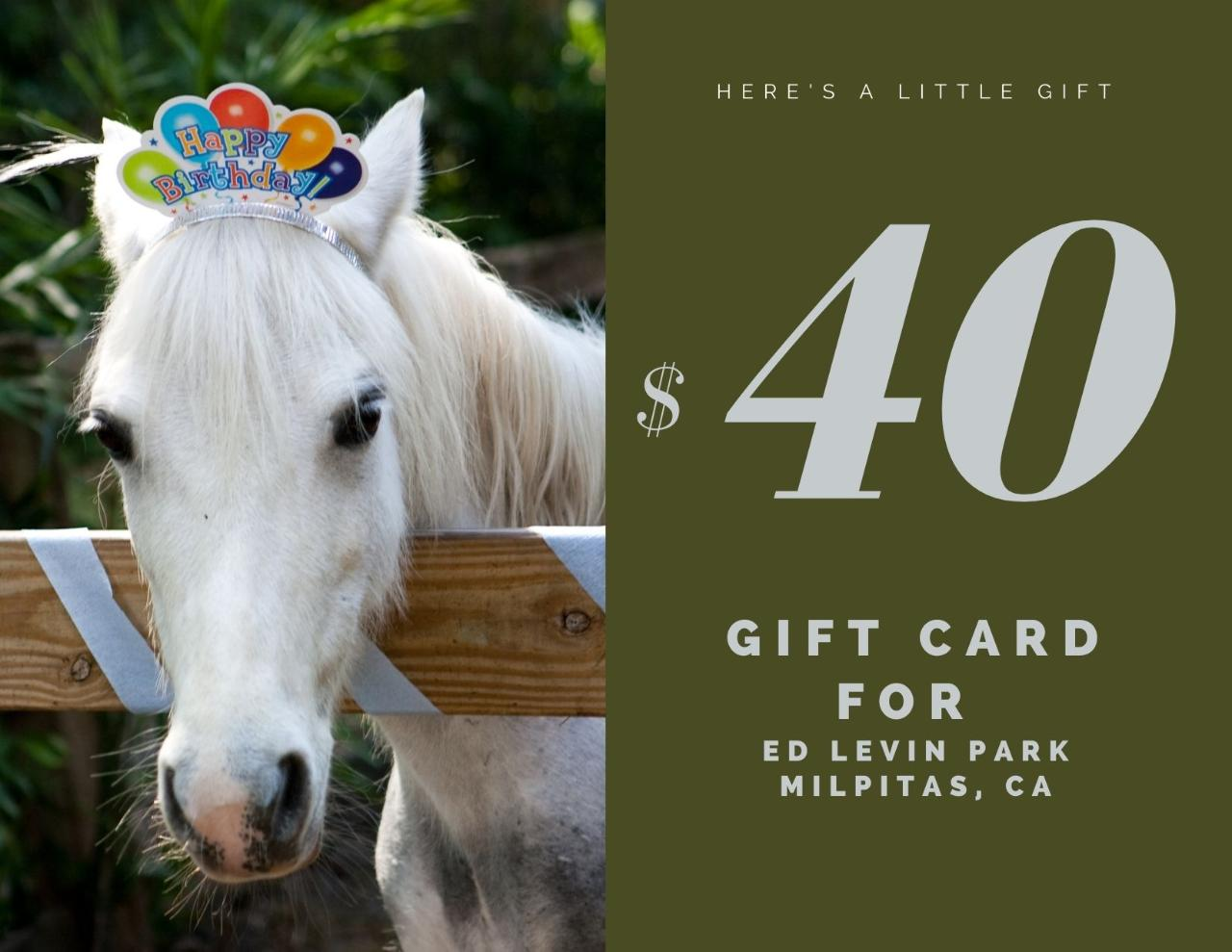$40 Gift Card - Ed Levin Park