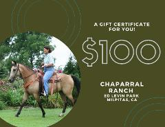 $100 Gift Card - Ed Levin Park