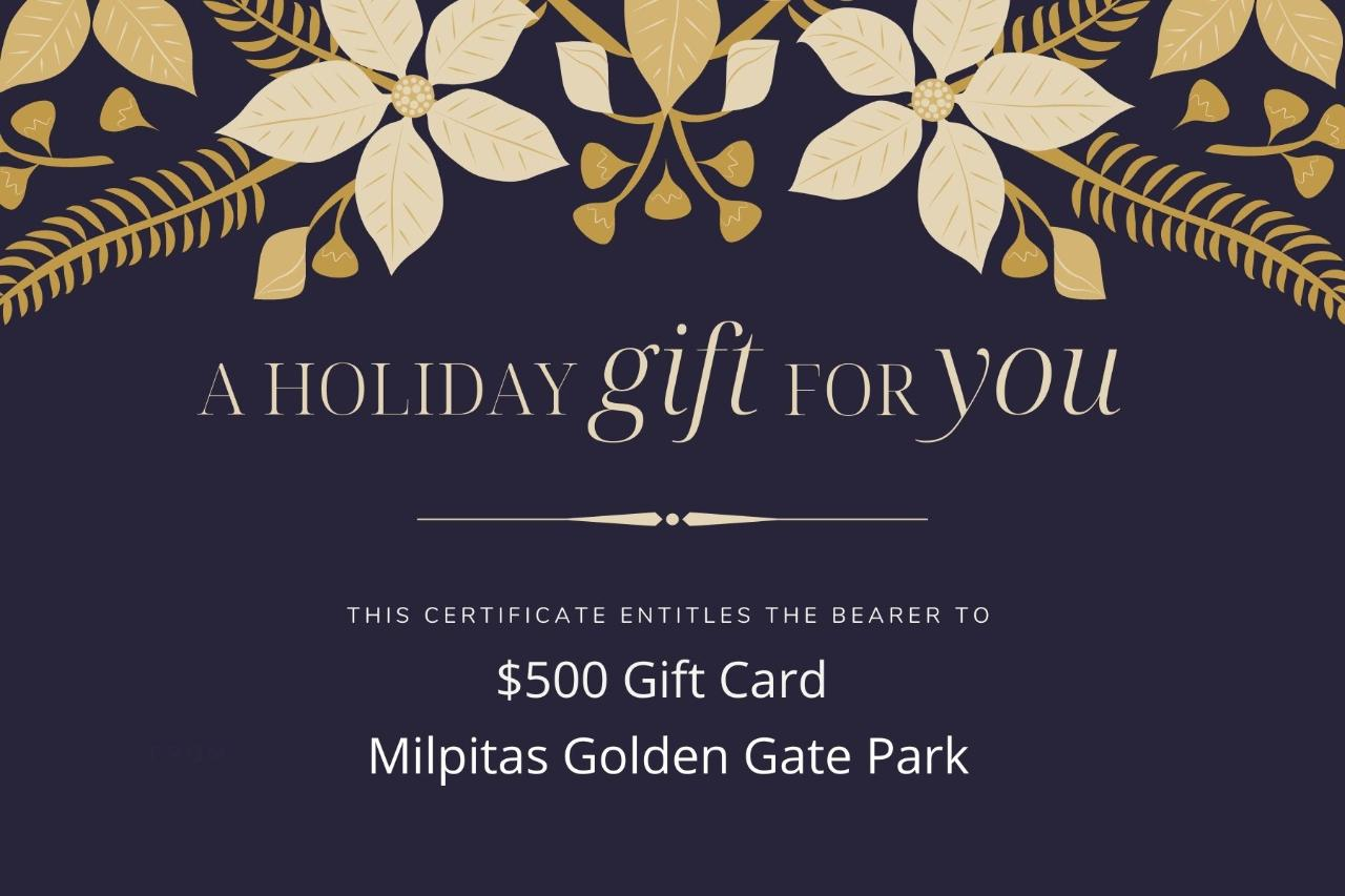 $500 Gift Card -Ed Levin Park