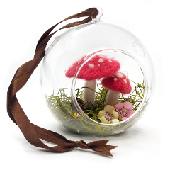 Create @ Blackwattle - Felted Mushroom Globe