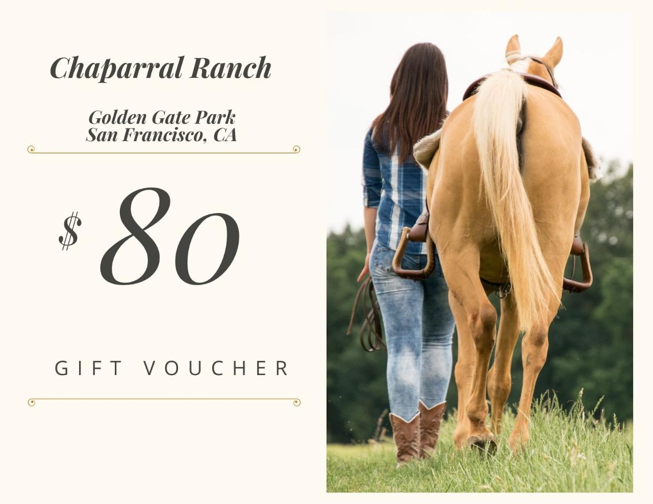 $80 Gift Card - Golden Gate Park