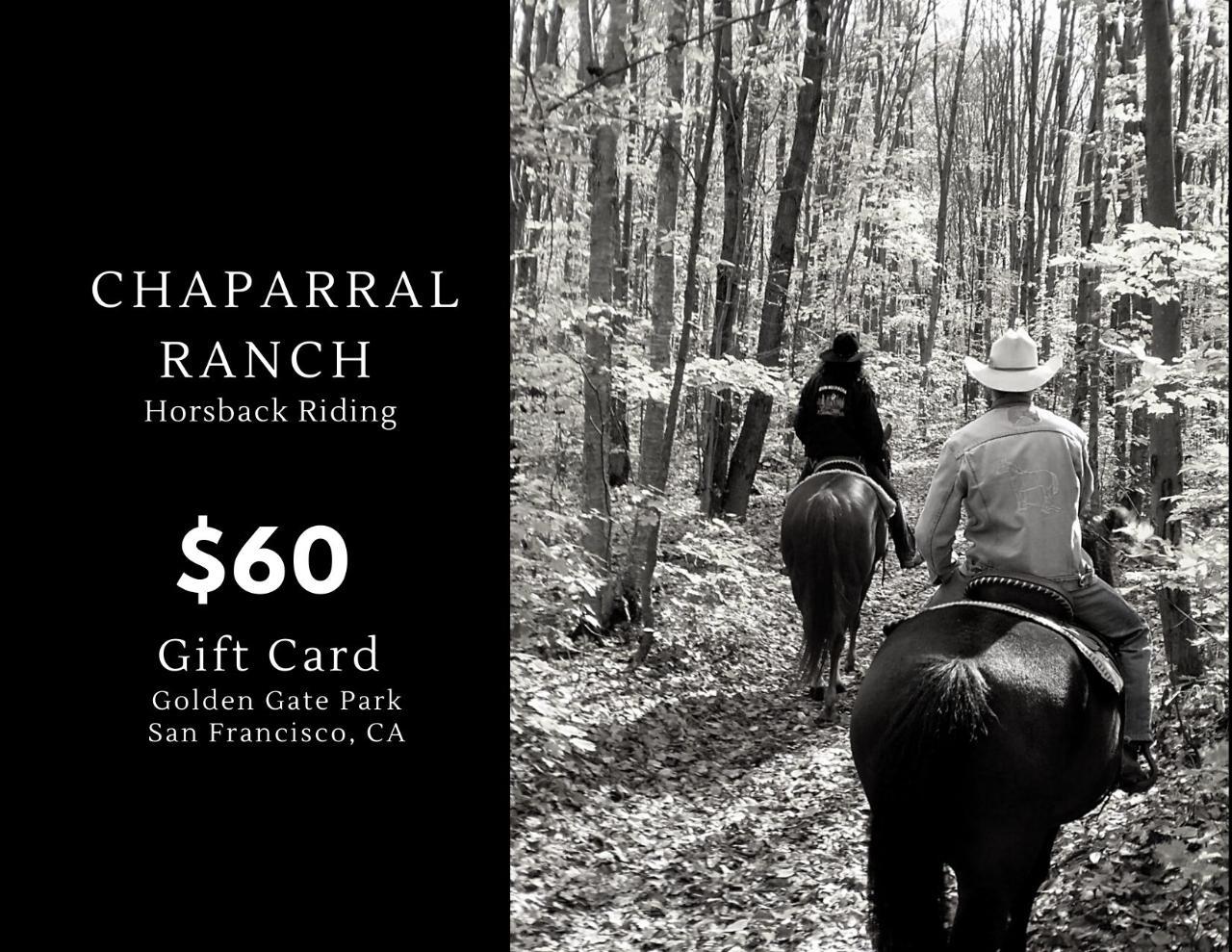$60 Gift Card Golden Gate Park