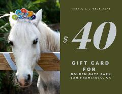 $40 Gift Card - Golden Gate Park