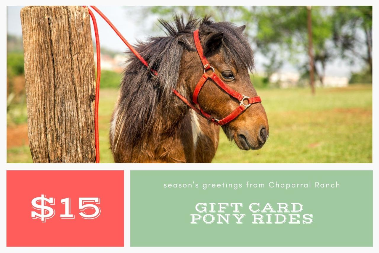 $15 Gift Card - Pony Ride