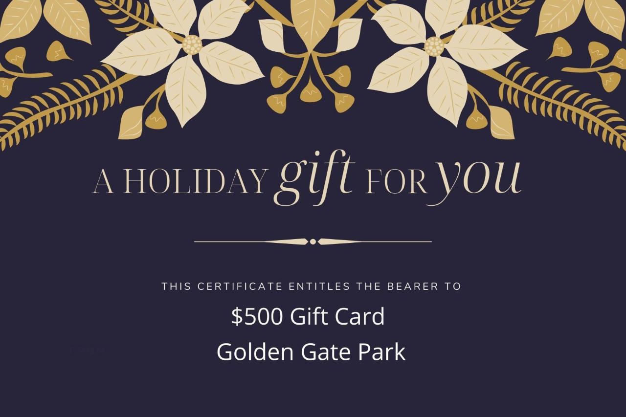 $500 Gift Card - Golden Gate Park