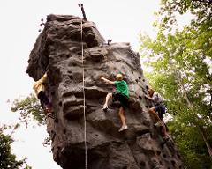 Outdoor Rock Climbing Wall at Skytop Lodge
