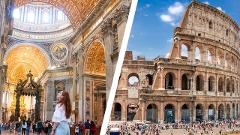 Two for One Vatican Museums Guided tour and Colosseum Entrance Ticket