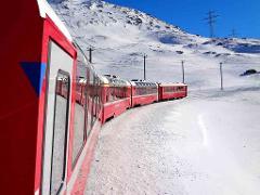 Bernina Railway & St. Moritz Day Trip from Milan