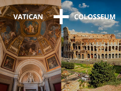 Combo: Vatican Museums Including Sistine Chapel + Colosseum, Roman Forum and Palatine Hill