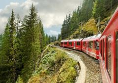 Bernina Express Train through the Swiss Alps and St. Moritz Day Trip from Milan