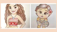 Kids Virtual Cartooning Workshop - Learn to draw Moana!