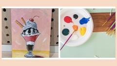Kids Virtual Paint Lesson with Shima (Ages 6+) - Learn to paint an ice cream