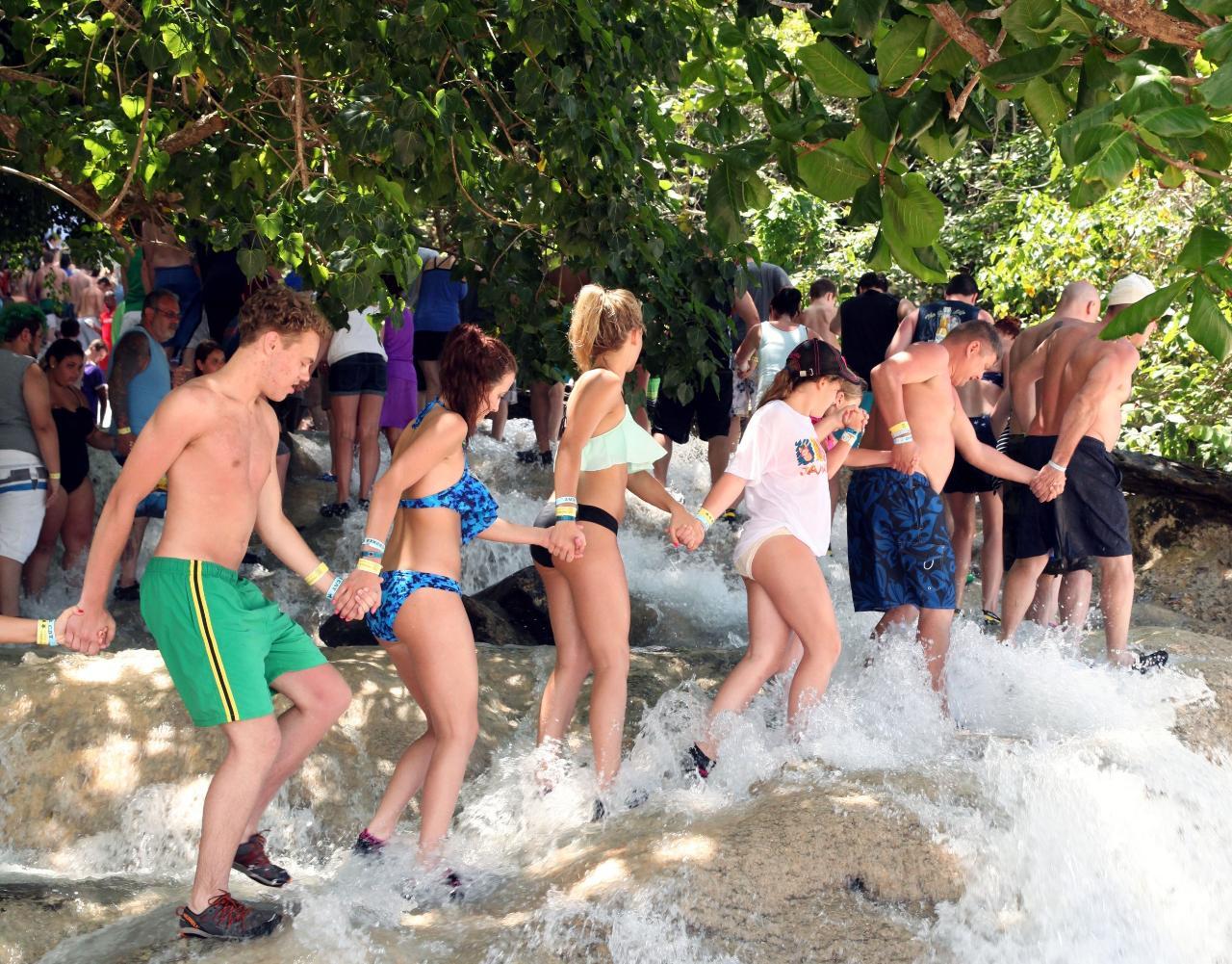 Dunn's River Falls & Fern Gully Adventure Tour from Ocho Rios