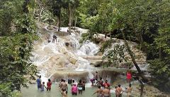 Dunn's River Falls & Jungle River Tubing Adventure Tour from Kingston