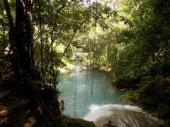 Island Gully Blue Hole & Bamboo Blu Beach Club Experience from Ocho Rios