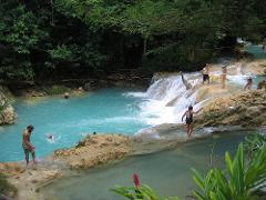 Island Gully Blue Hole & Bamboo Blu Beach Club Experience from Port Antonio