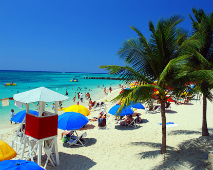 Doctor's Cave Beach from Montego Bay