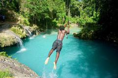 Island Gully Blue Hole & Bamboo Blu Beach Club Experience from Falmouth
