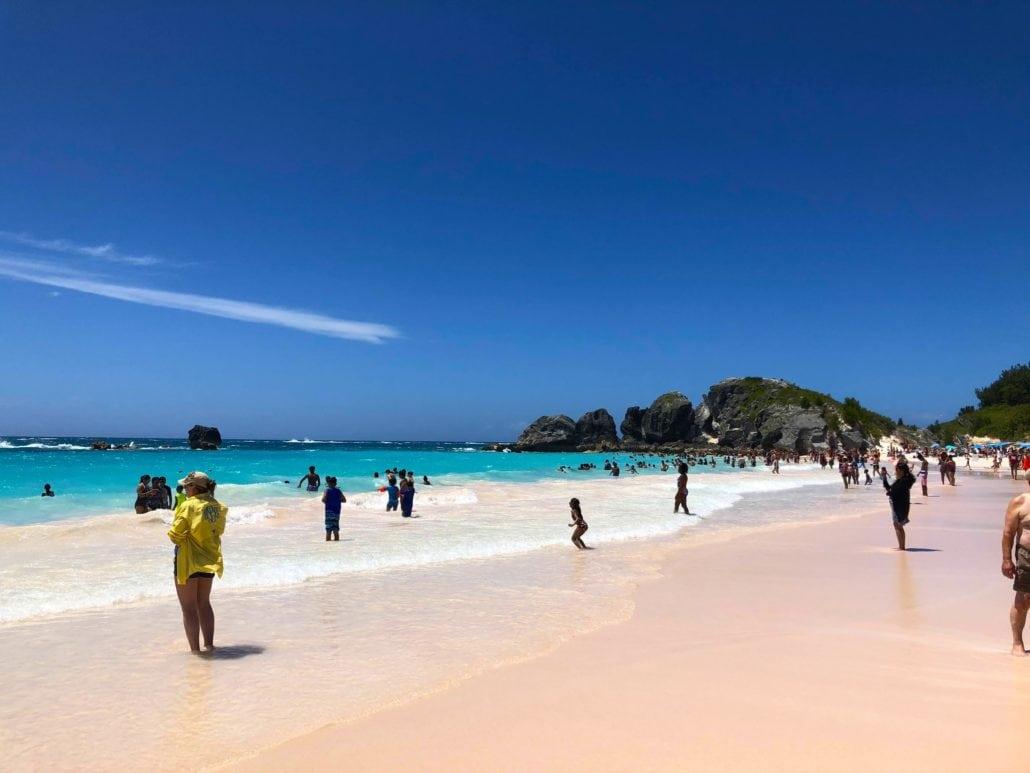 Horseshoe Beach Day In Bermuda