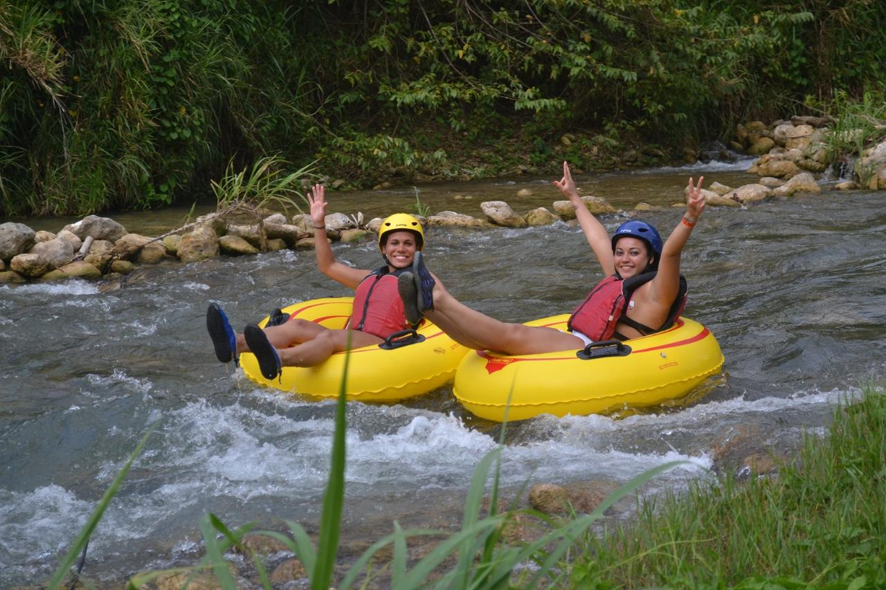 River Rapids Jungle River Tubing Adventure from Ocho Rios