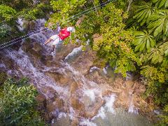 4-pack Combo Tour from Ocho Rios (Dunn's River Climb, Zipline , ATV & Horseback Ride And Swim)