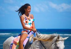 Braco Stables Horseback Ride and Swim Adventure from Falmouth