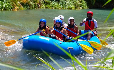 River Rapids Rafting Adventure from Falmouth