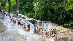 Falls Flyer Zipline and Jungle River Tubing Adventure Tour from Ocho Rios
